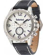Timberland 14810JS-07 Mens Warner Blue Leather Strap Watch