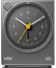 Braun BNC004GYGY Voice Control Alarm Clock - Grey