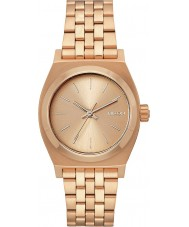 Nixon A1130-897 Ladies Medium Time Teller All Rose Gold Steel Watch