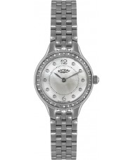 Rotary LB02866-06 Ladies Timepieces Stone Set Silver Steel Watch