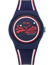 Superdry SYG198UR Ladies Urban Navy Silicone Strap Watch