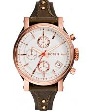 Fossil ES3616 Ladies Original Boyfriend Brown Leather Chronograph Watch