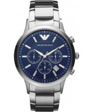 Emporio Armani AR2448 Mens Classic Chronograph Blue Silver Watch
