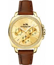Coach 14502172 Ladies Boyfriend Small Brown Chronograph Watch