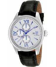 S Coifman SC0167 Mens Black Leather Strap Watch