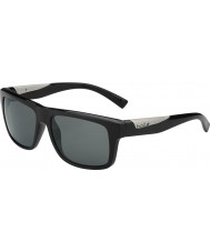 Bolle Clint Shiny Black Polarized TNS Sunglasses