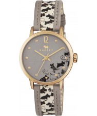 Radley RY2190 Ladies Doodle Dog Print Cream Stap Watch with Marsupial Out Strips