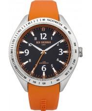 Ben Sherman WB012O Mens Black and Orange Silicone Strap Watch