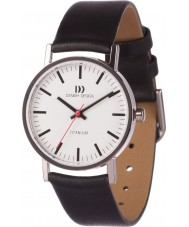 Danish Design V12Q199 Ladies Black Leather Strap Watch
