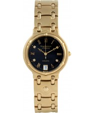 Krug Baümen 5118DM Charleston 4 Diamond Black Dial Gold Strap