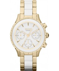 DKNY NY8830 Ladies Chambers Ceramic White Gold Watch