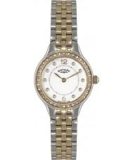 Rotary LB02868-01 Ladies Timepieces White Two Tone Watch