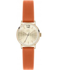 Orla Kiely OK2016 Ladies Gold Plated Orange Leather Strap Watch