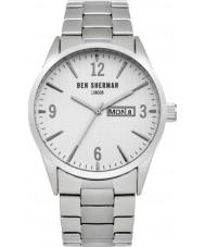 Ben Sherman WB053SM Mens Silver Steel Bracelet Watch