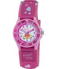 Peppa Pig PP005 Girls Time Teacher Watch with Pink PU Strap