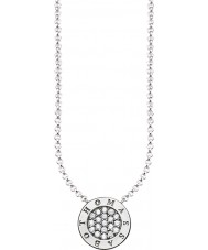 Thomas Sabo KE1493-051-14-L45v Ladies Silver Signature Classic Zirconia Pave Necklace