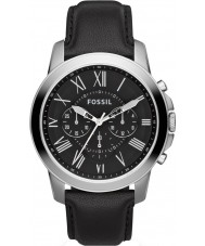 Fossil FS4812 Mens Grant Chronograph Black Leather Strap Watch