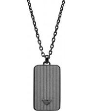 Emporio Armani EGS2223001 Mens Concrete Black Steel Necklace