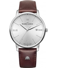 Maurice Lacroix EL1118-SS001-110-1 Mens Eliros Brown Leather Strap Watch