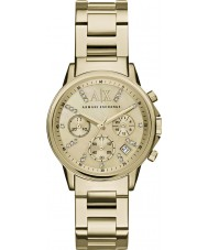 Armani Exchange AX4327 Ladies Dress Gold Plated Chronograph Watch