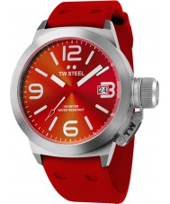 TW Steel Canteen Fashion Red Silicon Strap Watch