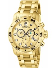 Invicta 74 Mens Pro Diver Gold Plated Chronograph Watch