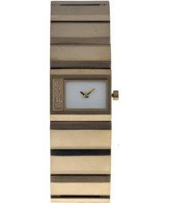 Levis Ladies White Dial Gold Plated Steel Case And Bracelet Watch