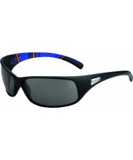 Bolle Recoil Matte Blue Stripes Modulator Polarized Grey Sunglasses