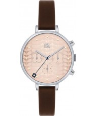 Orla Kiely OK2017 Ladies Ivy Chronograph Dark Brown Leather Strap Watch