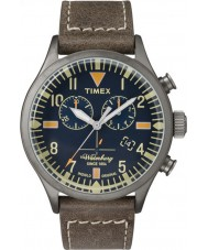 Timex TW2P84100 Mens Waterbury Brown Leather Strap Chronograph Watch