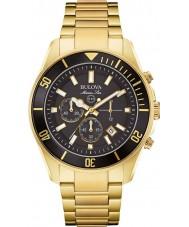 Bulova 98B250 Mens Marine Star Gold Plated Chronograph Watch