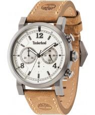 Timberland 14811JSU-07 Mens Templeton Brown Leather Strap Watch