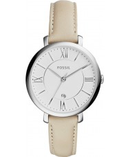Fossil ES3793 Ladies Jacqueline Cream Leather Strap Watch