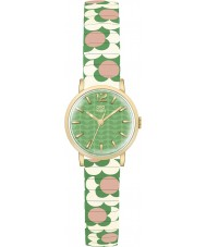 Orla Kiely OK4042 Ladies Flower Pop Pink Cream Green Expanding Bracelet Watch