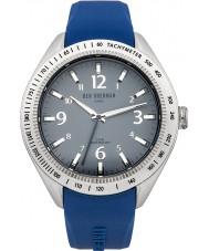 Ben Sherman WB012U Mens Grey and Blue Silicone Strap Watch