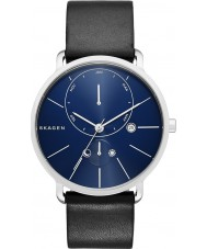 Skagen SKW6241 Mens Hagen Black Leather Strap Watch