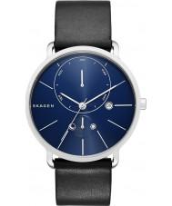 Skagen SKW6241 Mens Hagen Black Leather Strap Watch