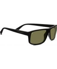 Serengeti Claudio Shiny Black Polarized 555nm Sunglasses