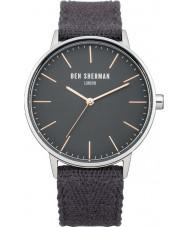 Ben Sherman WB009E Mens Portabello Social Grey Fabric Strap Watch