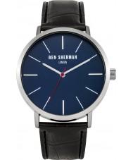 Ben Sherman WB054B Mens Black Leather Strap Watch