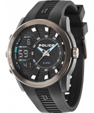 Police 14249JPBU-02 Mens Tactical Black Rubber Strap Watch