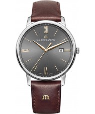 Maurice Lacroix EL1118-SS001-311-1 Mens Eliros Brown Leather Strap Watch