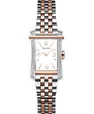 Bulova 98R186 Ladies Diamond Two Tone Steel Bracelet Watch