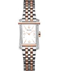 Bulova 98R186 Ladies Diamond Two Tone Steel Bracelet Watch