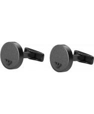 Emporio Armani EGS2224001 Mens Concrete Black Steel Cufflinks