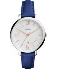 Fossil ES3986 Ladies Jacqueline Blue Leather Strap Watch