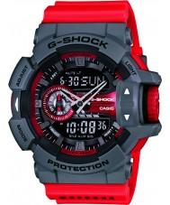 Casio GA-400-4BER Mens G-Shock World Time Red Combi Watch