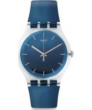 Swatch SUOK126 Encrier Blue Plastic Strap Watch