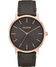 Nixon A1058-2441 Mens Porter Surplus Leather Strap Watch