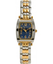 Krug Baümen 1964KL-T Ladies Tuxedo Blue Silver Gold Watch